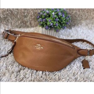 Coach Belt Bag / Fanny Pack - Light Saddle - NWT